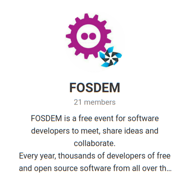 FOSDEM Telegram Group