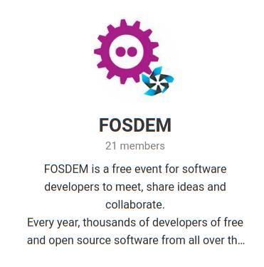 FOSDEM Telegram Group