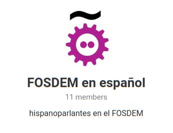 FOSDEM grupo Telegram en español