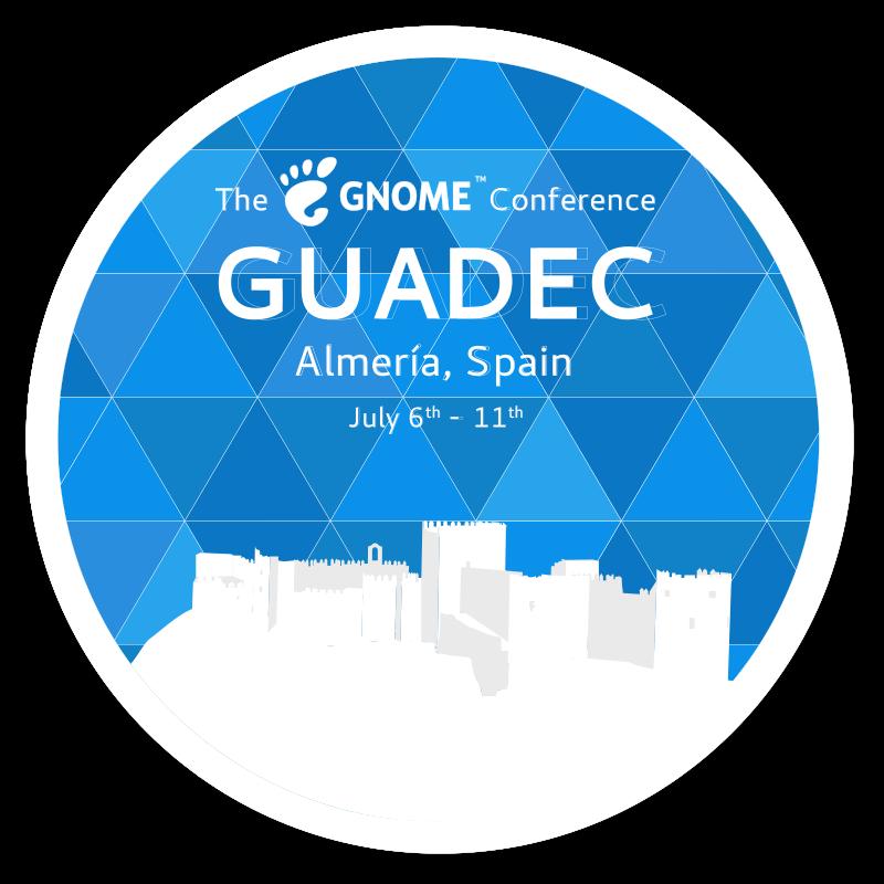 GUADEC 2018 badge