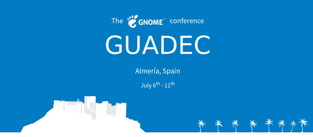 cartel de GUADEC 2018