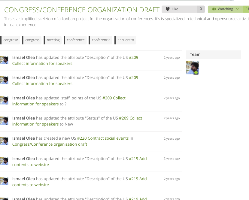task list screenshot